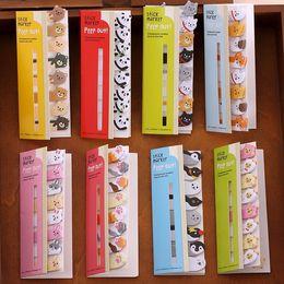 Wholesale Penguin Note - Wholesale-cute kawaii diy memo pad sticky Notepaper Post-it note cartoon animal bear dog pig cat penguin sticker office school supplies