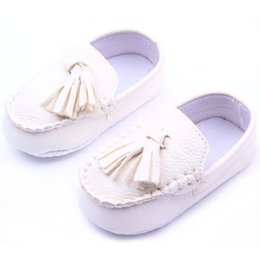 Wholesale leather loafers toddlers - Wholesale- Newest Baby Toddler Girls Boys Loafers Soft Faux Leather Flat Slip-on Crib Shoes 0-12M