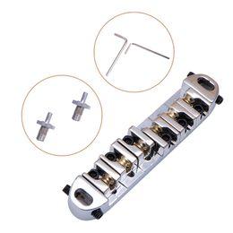 Wholesale Chrome Bridge - Roller Saddle Locking Tune-O-Matic Chrome Guitar Bridge for Les Paul Guitar