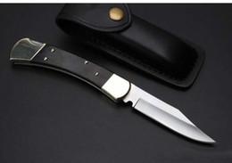2019 escaraque faca de dupla ação High-end Bk 110 auto faca única ação latão + madeira preto lidar com faca dobrável Camping caça ao ar livre xmas presente facas 1 pcs