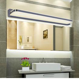 Wholesale Glass Mirror Wall - High Quality Longer LED Mirror Light 25CM ~ 112CM AC 90-260V Modern Cosmetic Acrylic Wall lamp Bathroom Lighting Waterproof Free Shipping