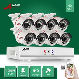 Wholesale Night Vision Bullet Ir Camera - ANRAN Plug and Play 8CH hybrid HD AHD DVR 1800TVL 720P Waterproof Outdoor 24 IR Day Night Vision Home CCTV Camera Security System