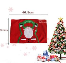 Wholesale Costume Knife - Santa claus Costume Knives And Forks Cover Pockets Sliverware Holder Placemat Dinner Table Christmas Decoration For Home Free shipping