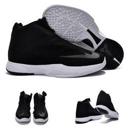 Wholesale Cotton Silk China - Free Shipping Hot Sale Kobe Bryant Icon China Black White Men Shoes