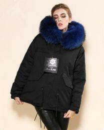 Wholesale Cashmere Short Coats For Women - Black Green MR Fur Parka,Lakeblue Real Fur Collar Short Style Coat,Mrs Collar Ms Wear For Wholesale