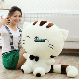 Wholesale Giant Stuffed Plush Valentines Day - Dorimytrader 28''   70cm Lovely Cat Doll Plush Giant Soft Stuffed Cartoon Cat Toy Pillow Nice Valentine Gift Free Shipping DY60853