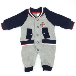 Wholesale Wholesale Pocket Jumpsuit - Winter Baby Boys Romper Cotton Long Sleeve High Quality Warm Pocket Cool Design Infant Clothing Jumpsuit