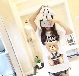 Wholesale White Shirts For Women - New fashion model the queen cute bears t shirts for women cotton mens womens oversize t shirt