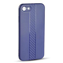 Iphone preto de carbono on-line-Projetado para o novo caso de telefone iPhone7 / 8, à prova de poeira, anti-wrestling, fibra mate caso de telefone shell criativo telefone de carbono (preto elegante)