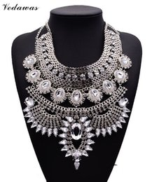 Wholesale Necklace Pendant Designs - Wholesale-2015 New Design Summer Style Long Bohemian Alloy Maxi Necklace Exaggerated Crystal Pendant Necklaces Collier Jewelry XG737
