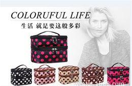 Wholesale Retro Toiletry Bag - 100pcs hot sale 8 designs Makeup Cosmetic Bags Toiletry Retro Dot Beauty Wash Case Organizer Holder Handbag For Travel D638