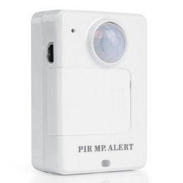 A9 alarm online-Portable Motion Dection Mini-PIR-Alarm Infrarot-GSM-Alarm A9 Weiß mit Rückruffunktion für die Sicherheit im Haus