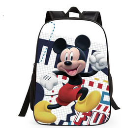 Wholesale Spiderman School Bags - New Children lovely Mickey Mouse design school bags baby cartoon spiderman character backpack little kids school bags 37*29 cm