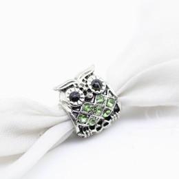 Fascino di uscita online-Prese di fabbrica Originale Colore mix all'ingrosso Fine Jewelry Oro Bead Crystal Owl Charm Europeo Bead Fit Pandora Bracciali Bangles