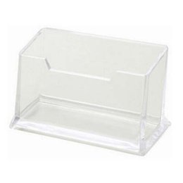 Wholesale Business Card Company - New 6pcs Business Card Holders Transparent Plastic Office Destop ID Card Organizer Company Office Supply Material Escolar Papelaria
