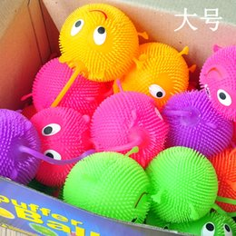 Wholesale Pottery Face - Baby toys, luminous fluffy ball, smiling face, flashing elastic, fluffy ball, luminous toy, night market, street heat