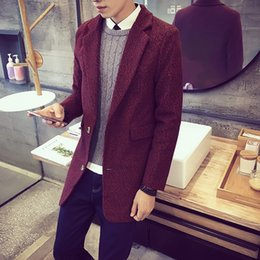Wholesale Especially Man - Wholesale- Cape Style Coat Double Wool For Men Long Winter Autumn Jackets Especially Cashmere Trench Male 2017 Fashion Pants 8Xl F23