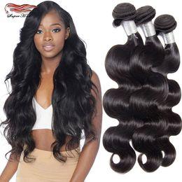 Wholesale 5pcs Hair Weave - Ms Here Hair Body Wave 5pcs Indian Virgn Hair Raw Indian Body Wave Virgi Hair Unprocessed Iwish Human Hair Weave Bundles