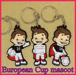 Wholesale Wholesale Mascot Charms - France 16 European Cup Mascot Keychains Football Fan Gift Men's Car Key Pendant Keys car Key gifts toys