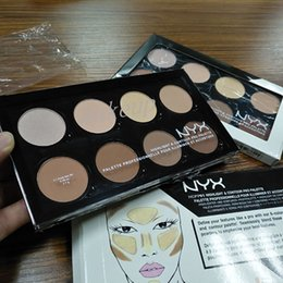 Wholesale High Repair - 2017 The new hot NYX8 color repair capacity plate high light repair capacity shadow plate powder plate free shipping