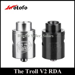 Wholesale Free Decking - Original WOTOFO The Troll RDA 22mm Diameter Rebuidable Dripping Atomizer with Velocity Deck DHL EMS Free
