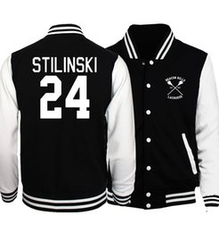 Wholesale Flashing Buttons - Wholesale- 2017 Spring Hot Men Coat Wolf Teen Stilinski 24 Baseball Jackets Men Hoodies The Flash S.T. A. R. Labs Star Jacket Tracksuit