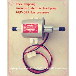 Wholesale Fuel Carburetor - Wholesale-Free shipping High quality 12V electric fuel pump HEP-02A low pressure fuel pump for carburetor, motorcycle , ATV