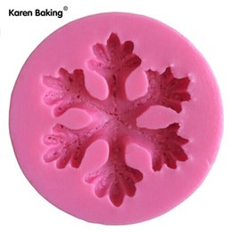 Wholesale Wholesale Soap Flakes - Snow Flake shaped Chocolate Candy Jello 3D silicone Mold Mould Cartoon Figre cake tools Soap Mold Sugar craft Cake Decoration