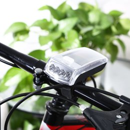 Wholesale Solar Bicycle Light Front - 4-Led Solar Bike Head Light Front Torch Lamp Outdoor Equipment Front Reer Handlebar Bicycle Light Bicycle Accessories