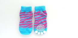 Wholesale Pet Tiger - Pet dog domineering tiger pattern socks feet With non-slip rubber