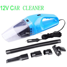 Wholesale Car Hoover - Mini Vacuum Cleaner 12V Car Care & Cleaning Cigarette Lighter Wet   Dry 120w Car Vacuum Cleaner Hoover Caravan Van & Inflator