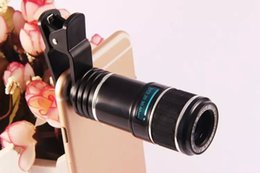 Wholesale Mobile Phones Telescope Camera 12x - Universal 12x 70 Zoom Optical Lens Mobile Phone Telescope Camera Lens for Samsung s6 s7 note 4 5 iphone 6s plus huawei LG