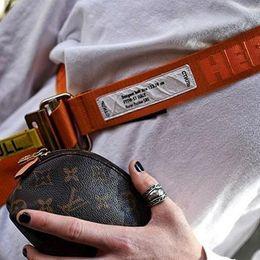 Wholesale Orange Canvas Belt - 2017FW Heron Preston Belt Metal Head Woven PULL Belt Orange Black Fashion Men Women Highstreet HFYTPD001
