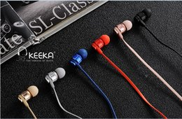 Wholesale Headphones Microphone Sale - Hot Sale 3.5mm KEEKA F3 Metal Earphones Headphone Headsets with Microphone super Bass Stereo Earbuds for mobile phone MP3 MP4
