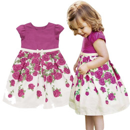 vests for party girls Coupons - PrettyBaby 2016 New Summer dress for girls Beautiful girl rose princess sleeveless dresses children dresses Party Vest Dress