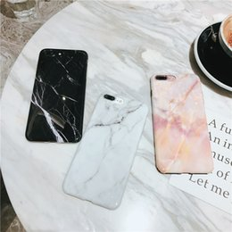Wholesale Iphone Glossy Case - Glossy Marble Cases for iPhone x 7 8 6 6s TPU Soft Shockproof Phone Cover for iPhone 8 Plus Coque
