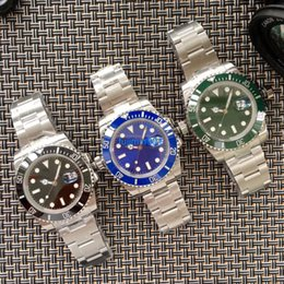Wholesale Ceramic Sub - 3 color luxury brand watch Noob factory Roli SUB V7 ETA 2836 3135 movement 40mm version men mechanical carrying original folding clasp 00