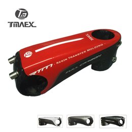 "Wholesale Carbon Mountain Handlebars - TMAEX - Lightweight Full 3k Carbon Stem 1""1 8 Road Mountain Bike Handlebar Stem 80 90 100 110mm Carbon Fiber Cap Stem"