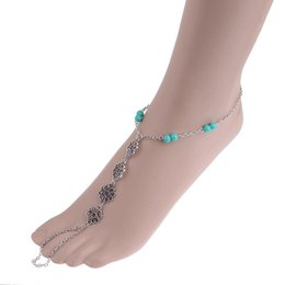 Wholesale bridal foot jewelry - Brand New Barefoot Sandals Beach Wedding Foot Jewelry Anklet Ankle Bridal Bracelet 1 Pc Free Shipping[GE09114]