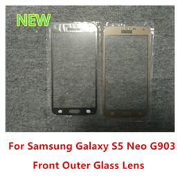 écran de remplacement pour samsung galaxy s5 Promotion Pour Samsung Galaxy S5 Neo G903 G903F G903W Avant Extérieur Écran Tactile En Verre Lentille de Haute Qualité Remplacement
