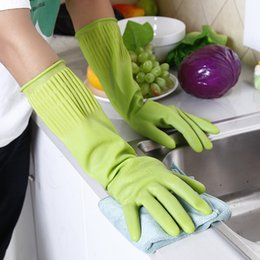 Wholesale Cleaning Household Products - Dishwashing latex rubber gloves household gloves protective dishes cleaning products