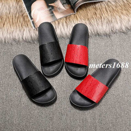 Wholesale Girls Winter Sandals - new arrival 2017 fall winter mens and womens fashion slide sandals boys girls outdoor beach rubber slippers size euro 35-45