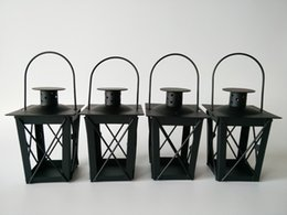 Wholesale Decoration Wedding Lantern - Cheap Black White Metal candle holders Iron lantern wedding candelabra candelabra centerpieces wedding moroccan lanterns candle lantern