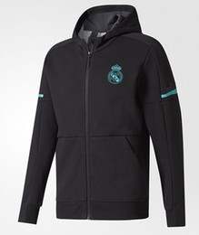 Wholesale Tracksuits Men Soccer - 2017 2018 Real Madrid Soccer jerseys Jacket 17 18 RONALDO DYBALA POGBA AC Milan Football tops hooded Coat Zipper jackets tracksuits chandal