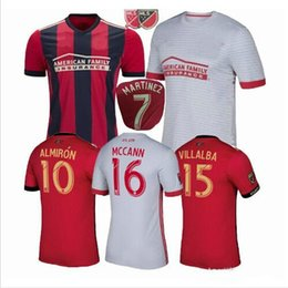 Wholesale Atlanta Homes - NEW 2017 Atlanta United FC soccer jerseys 17 18 MARTINEZ 7# Almirón10# MCCANN16# Atlanta Home Away Rugby uniform soccer jerseys