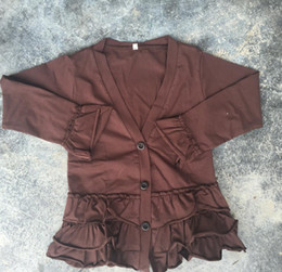 Wholesale Cheap Girls Winter Clothing - fall winter cotton clothing ruffle cardigan toddler girls boutique clothing cheap wholesale children clothes adorable cardigan
