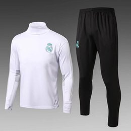 Wholesale Sweat Jogging - Best quality Soccer tracksuits 2017 2018 survetement football Real Madrid training suits sweat chandal soccer jogging football pant