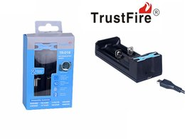 Wholesale Lithium Rechargeable Battery 5v - Newest 5V USB Charger TrustFire TR-016 Universal Rechargeable 3.7V Lithium Batteries Charger Free DHL