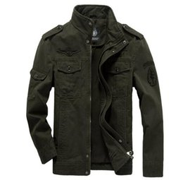 Wholesale Casual Spring Military Jacket Men - Men cargo jacket military Plus size 5XL 6XL army Air force one male clothing Spring Autumn Mens jackets outdoor