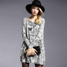 Wholesale Trendy Winter Sweaters - Wholesale- European&American Women Sweater Winter Fashion Slash Collar Knitted Big Size Long Section Sweater Loose Women Trendy Sweater